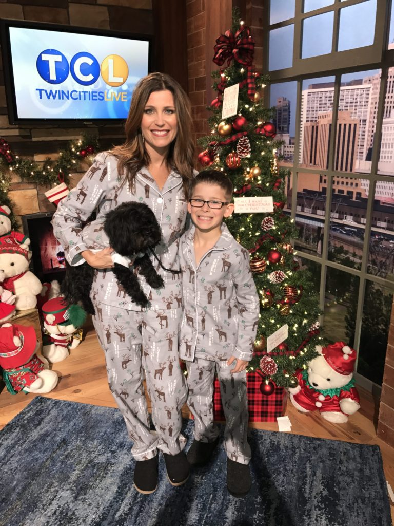 2c5b8864c Pick #2- Family Flannel Deer Pajamas from The Company Store (Modeled by Jen  Vick, son Brady(8) and dog Piper)